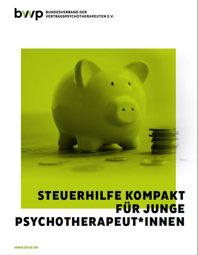 Steuerhilfe kompakt für junge Psychotherapeut*innen